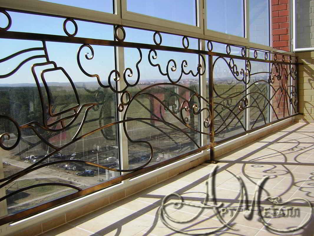 Балконы, ограждения - ковка художественная артметалл.